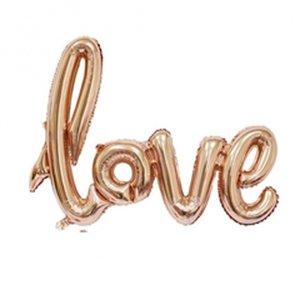 Надпись Love Розовое Золото