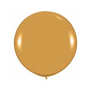 Шар без рисунка Золото металл 36