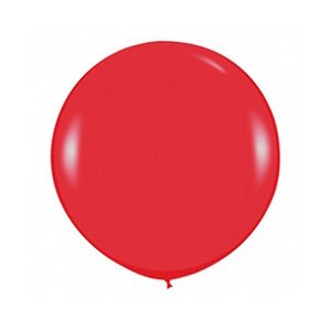 Шар без рисунка Красный пастель 36