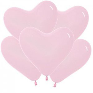Шар без рисунка Сердца розовые
