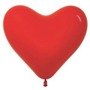 Шар без рисунка Сердце красное