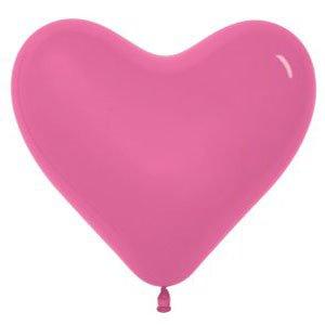 Шар без рисунка Сердце темно-розовое