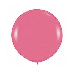 Шар без рисунка Темно-розовый пастель 36