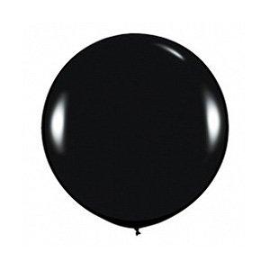 Шар без рисунка Черный пастель 36