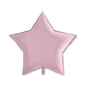 Шар звезда пастель розовый Pink
