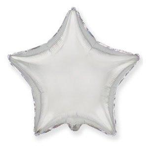 Шар звезда серебро