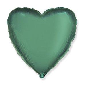 Шар сердце Бирюзовый