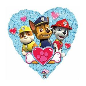 Шар сердце Щенячий патруль сердце голубое