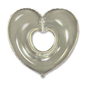Шар сердце вырубка серебро