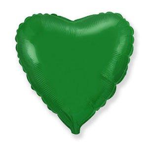 Шар сердце зеленый