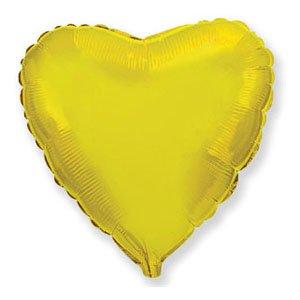 Шар сердце золото