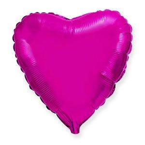 Шар сердце лиловый