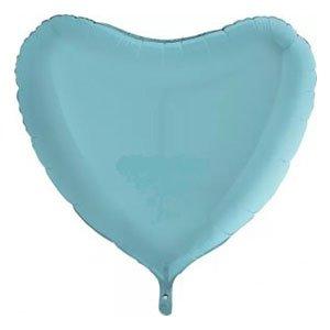 Шар сердце пастель голубой Blue