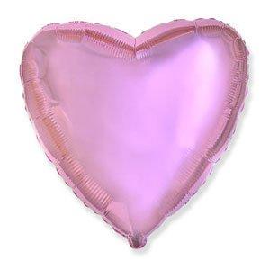 Шар сердце розовый нежный