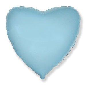 Шар сердце светло-голубой