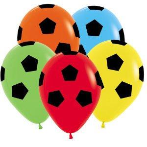 Шар с рисунком Футбольный мяч ассорти