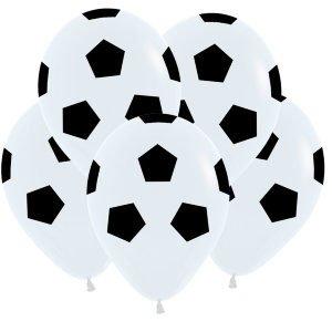 Шар с рисунком Футбольный мяч белый