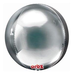 Шар 3D Сфера металлик Silver (серебро)