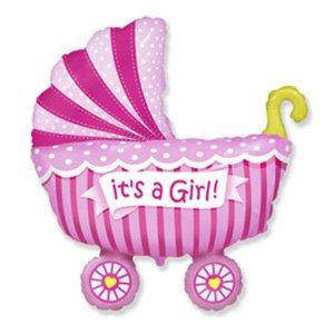 Фигура Коляска для девочки (розовая)