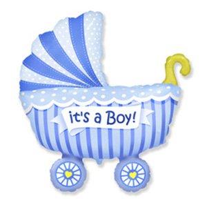 Фигура Коляска для мальчика (голубая)
