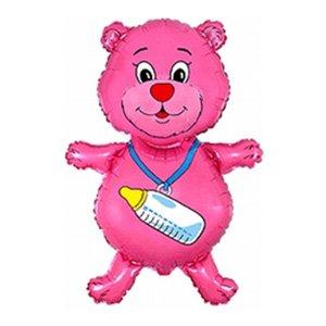Фигура Медвежонок девочка (фуксия)