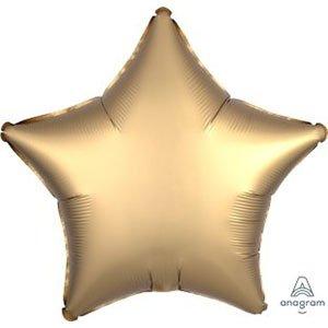 Шар звезда сатин золото Satin Luxe gold sateen