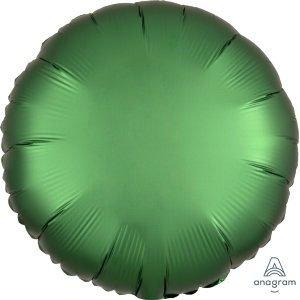 Шар круг сатин зеленый satin emerald