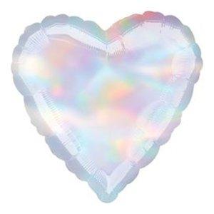 Шар сердце перламутр