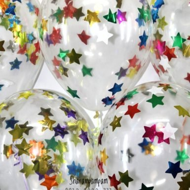 Шар с конфетти ассорти звезды