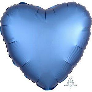 шар сердце сатин лазурный satin luxe azure