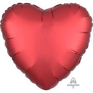 шар сердце сатин стальной сангрия satin steel luxe sangria