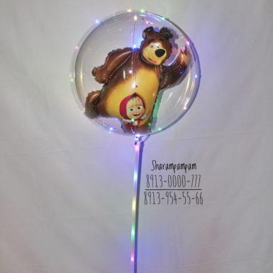 Светящийся шар-пузырик на палочке с фигурой