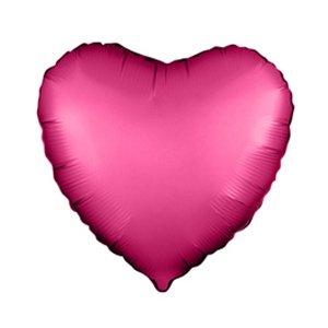 Шар сердце Гарнатовый сатин