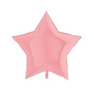 Шар ЗВЕЗДА 36 Пастель Matte Pink (матовый розовый)