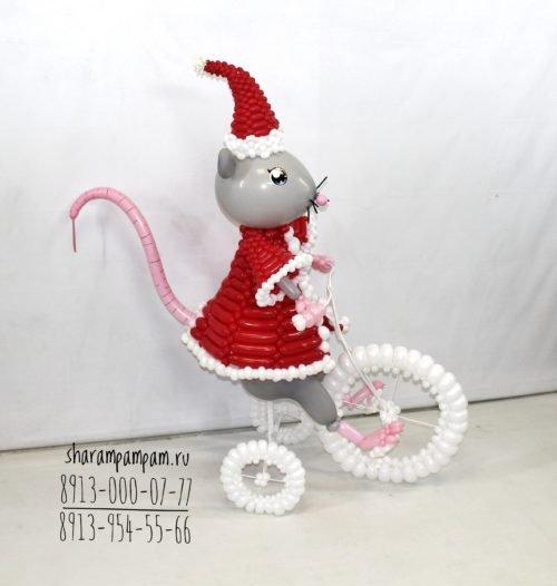 """Фигура """"Новогодняя мышка""""1"""