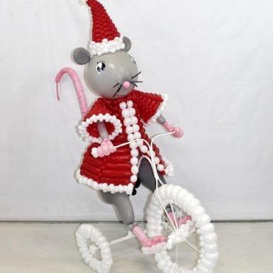 """Фигура """"Новогодняя мышка"""""""