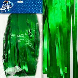Занавес Дождик, Зеленый, Матовый, 100 200 см