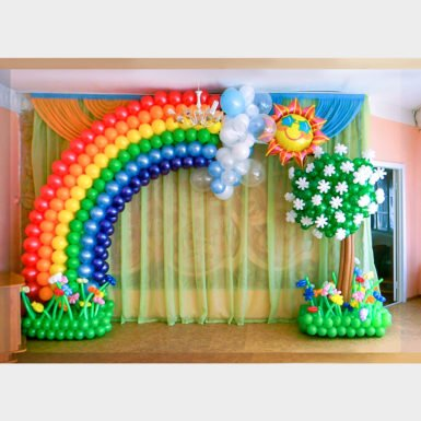 Оформление Большая радуга