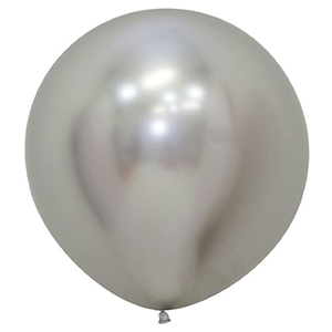 Шар без рисунка Рефлекс Серебро, (Зеркальный шар) 24