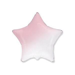 Шар звезда Градиент розовый
