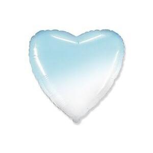 Шар сердце Градиент голубой