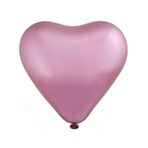Шар сердце Хром Сатин Flamingo