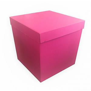 Коробка для шаров (розовая) 60 60 60 см.