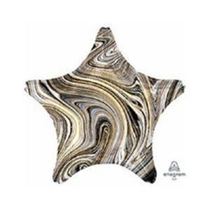 Шар звезда Мрамор Black (черный)