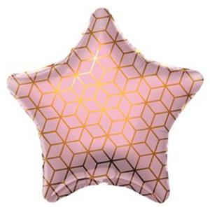 Шар звезда Геометрия, Розовый
