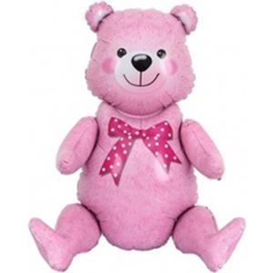 Фигура Сидячий мишка, Розовый