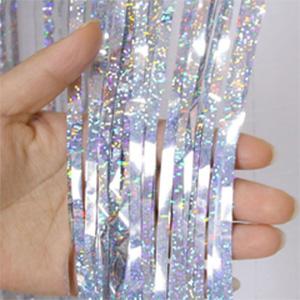 Занавес Дождик Серебро Лазерный 200 100 см