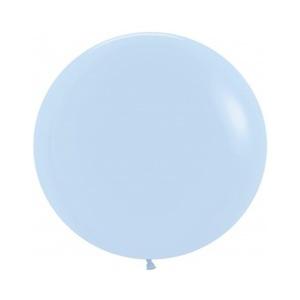 Шар гигант без рисунка Макарунс Нежно-голубой