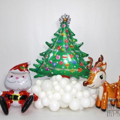 Композиция Дед мороз с оленем