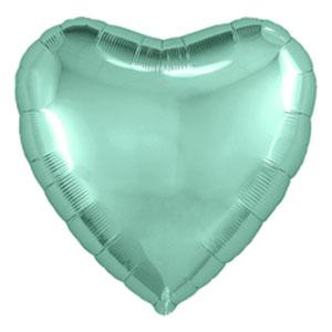 Шар сердце большое Бискайский зеленый